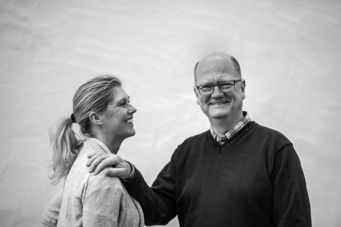 Magnus Bolin med hustrun Åsa Bolin