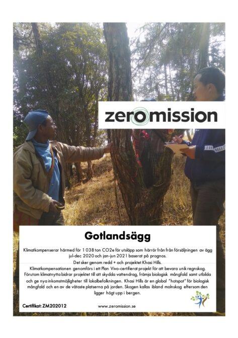 ZeroMission Cert 202012