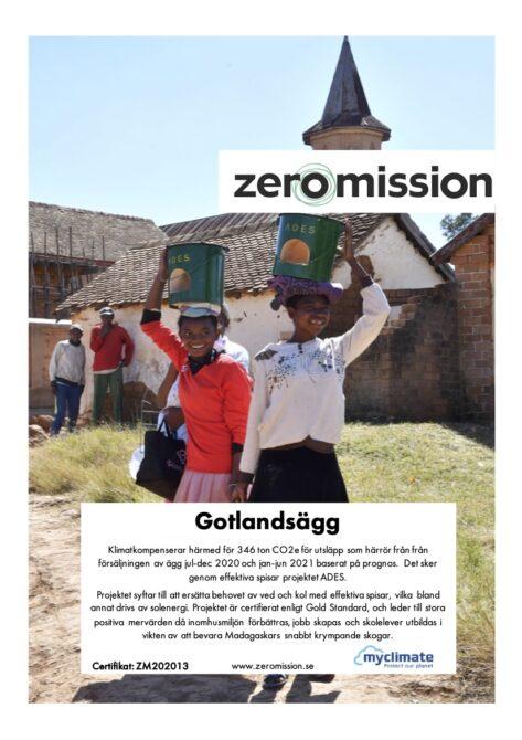 ZeroMission Cert 202013