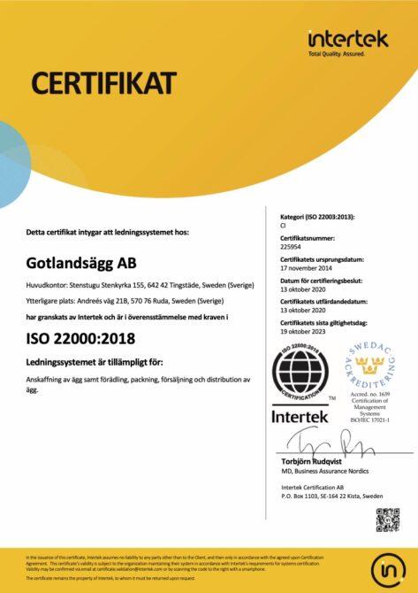 ISO 22000 sv